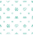 couple icons pattern seamless white background vector image vector image