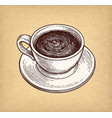 cup of hot chocolate or coffee vector image vector image