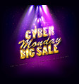cyber monday binary background vector image