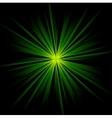 Dark green beams abstract background vector image vector image
