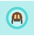 Defence jacket for snowboarding flat icon vector image vector image