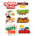 different font designs for words related to vector image vector image