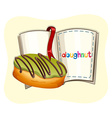 Donut with green frosting vector image vector image
