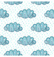 doodle clouds hand drawn seamless pattern funny vector image vector image