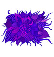 fantastic colorful decorative flower purple vector image vector image