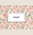 floral pattern flower card background flourish vector image vector image
