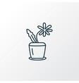 flower pot icon line symbol premium quality vector image