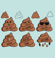 funny poop emojis shit emoticons set vector image