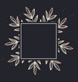 golden frame pattern art leaves elegant vector image