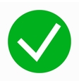 Green tick check mark icon simple style vector image vector image