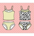Hand drawn lingerie set vector image vector image