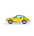 hand-drawn yellow car vector image