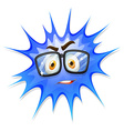 Happy face on blue splash vector image vector image