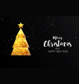 holiday christmas card made from triangles 4 vector image