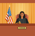 judge black woman in courtroom flat vector image vector image