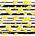 lemon citrus seamless watercolor natural pattern vector image vector image