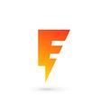 Letter E lightning logo icon design template vector image vector image