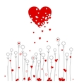 Love and flowers vector image vector image