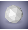 Low polygonal sphere vector image