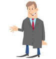 man or businessman comic character vector image vector image