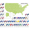 map united states vector image vector image
