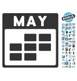 May Calendar Page Flat Icon With Bonus vector image