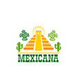 mexican food isolated icon of national restaurant vector image vector image