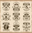 mexican national attributes and authentic signs vector image