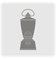 monochrome icon with lantern vector image vector image