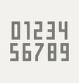 numbers font sport font with numbers and numeric vector image vector image
