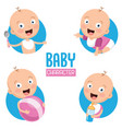 of baby vector image vector image
