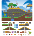 Platform Game Tropical vector image vector image
