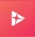 play light flare blitz bright logo icon vector image