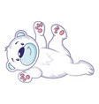 playing polar bear icon cartoon style vector image