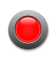 red circle button template for your design vector image vector image