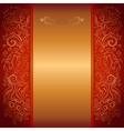 red royal invitation card vector image vector image
