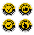satisfaction guaranteed stickers vector image vector image
