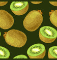 seamless kiwi fruits vector image vector image
