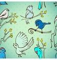 Seamless pattern birds vector image