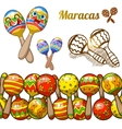 Set of colorful fun maracases vector image