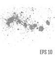 set of gray splash on white background all vector image vector image