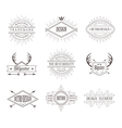 Set of Vintage Labels Line Emblems Frames vector image vector image