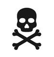 skull icon icon death black crossbones vector image vector image