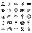 taxi cab icons set simple style vector image vector image