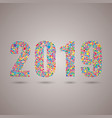 the 2019 happy new year or christmas number vector image vector image