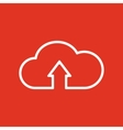 The upload to cloud icon Download symbol Flat vector image vector image