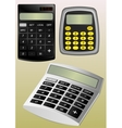 Three types of calculators vector image