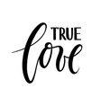 true love beautiful hand drawn lettering isolated vector image vector image