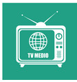 tv media live streaming vector image vector image