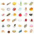 utensil icons set isometric style vector image vector image